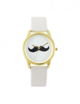 Relógio Bigode Branco