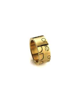 Aliança One Jewels Paris M Dourada