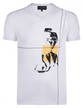 T-Shirt Emporio Armani Custom Fit Branco