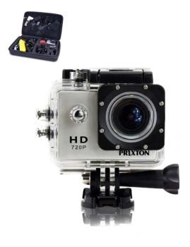 Câmara Desportiva Submersível HD Prixton® + 16 Acessórios