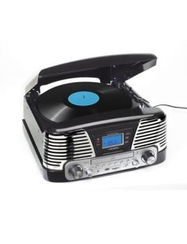 Gira-Discos Retro Cromado