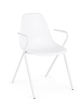 imagem de Cadeira Bizzotto Anastasia C/ Braços Branco 1