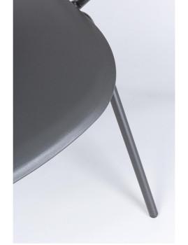 imagem de Cadeira Bizzotto Anastasia C/ Braços Cinza2