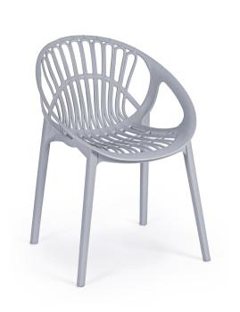 imagem de Cadeira Bizzotto Cassiopea Cinza Claro1