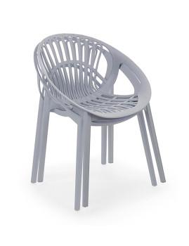 imagem de Cadeira Bizzotto Cassiopea Cinza Claro6