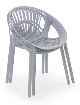 imagem de Cadeira Bizzotto Cassiopea Cinza Claro2