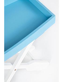imagem de Mesa de Apoio Gozzo Branco e Azul2