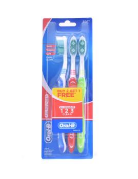 Escova de dentes Oral-B All Rounder Clean #Suave Pack de 3
