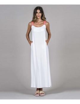 Vestido Alças Cores Branco
