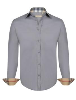 Camisa Burberry Homem Cinza