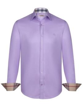 Camisa Burberry Homem Lilás