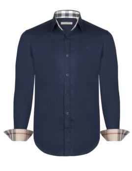 Camisa Burberry Homem Azul Navy