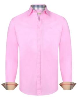 Camisa Burberry Homem Rosa