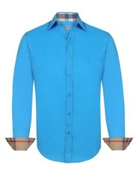 Camisa Burberry Homem Turquesa