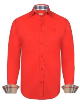 Camisa Burberry Homem Vermelha