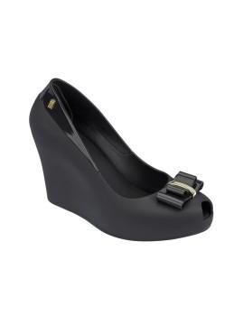 Sapatos de Cunha Melissa Queen Wedge III preto