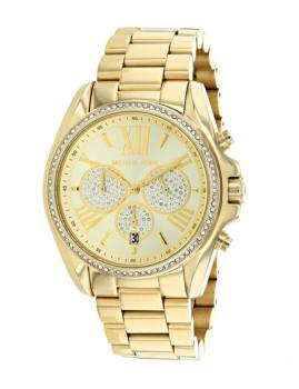 Relógio Michael Kors Bradshaw Pavè Dourado