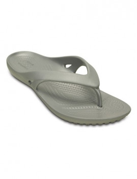 Chinelo Crocs Kadee II Flip Cinza