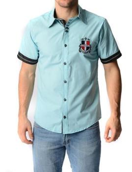 Camisa Manga Curta Virtual Azul Turquesa