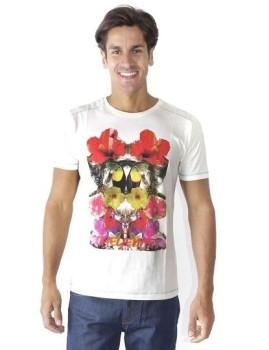 T-shirt Cheyenne Branca Estampagem