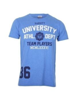 T-Shirt Varsity Team Players Univerduty Athl Azul