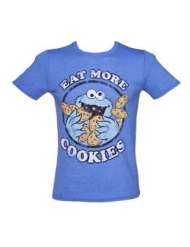 T-shirt Monstro das bolachas Azul