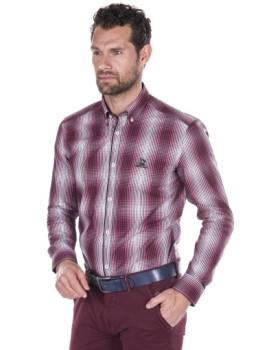 Camisa Giorgio di Mare Bordeaux
