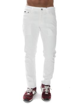 Calças Denim Calvin Klein Branco