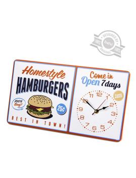 Relógio parede Hamburgers metal 1xAA 22x40