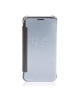 Capa Tipo Livro com Frontal Translúcido Samsung S7 Prateado
