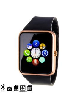 Smartwatch GT08 Bluetooth Preto e Dourado