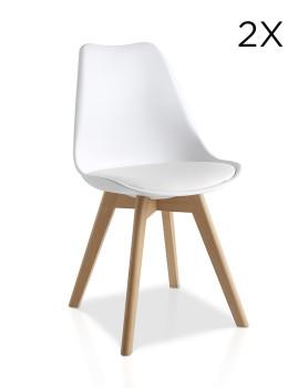 Pack 2 cadeiras Lulea Branco