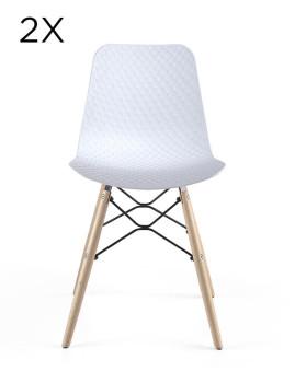 Pack 2 Cadeiras Design Branco