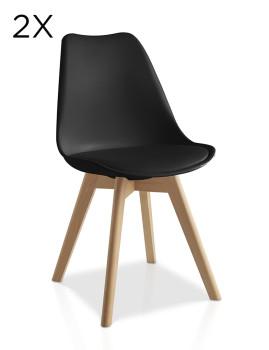 Pack 2 cadeiras Lulea Preto