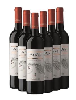 Conj 6 garrafas Vinho Tinto AnAs 2014 - Herdade do Sobroso Alentejano