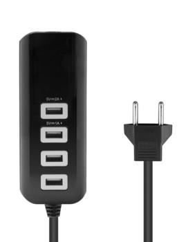 Carregador USB 4x com Cabo