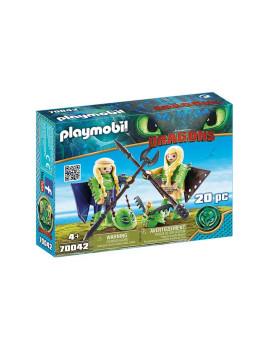 imagem de Playmobil Dragons Brutesco e Brutália com Flight Suit1