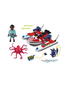 imagem de Playmobil Ghostbusters Zeddemore com Moto de Água2
