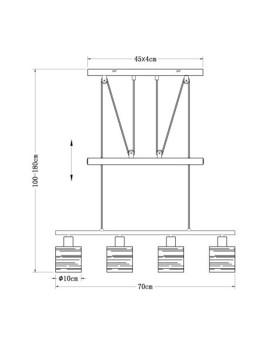 imagem de Candeeiro Suspenso Tunno Metal Preto6