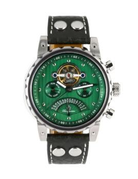 Relógio Burgmeister Homem Limoges Preto e Verde
