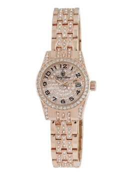 Relógio Burgmeister Senhora Diamond Star Dourado Rosa e Dourado