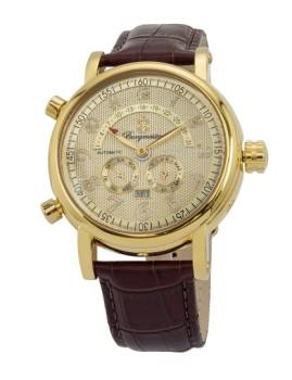 Relógio Burgmeister Homem Nevada Castanho e Dourado