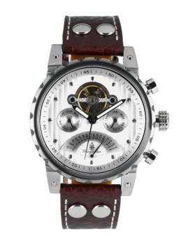 Relógio Burgmeister Homem Limoges Castanho e Branco