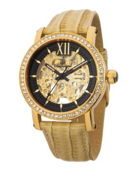 Relógio Burgmeister Senhora Malaga Bege e Dourado
