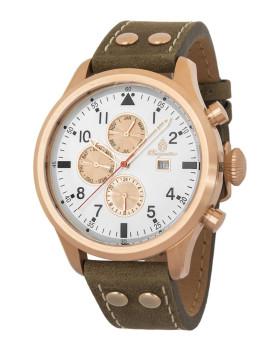 Relógio Burgmeister Homem Southport Castanho e Branco