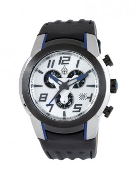 Relógio Burgmeister Homem Johannesburg Preto e Prateado