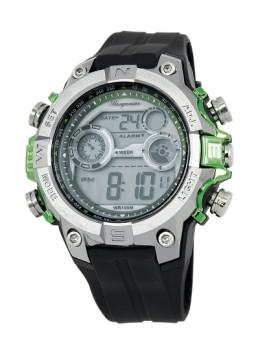 Relógio Burgmeister Homem Digital Power Preto e Prateado