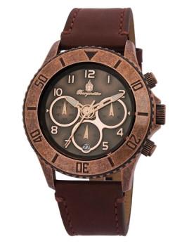 Relógio Burgmeister Homem Vintage Castanho