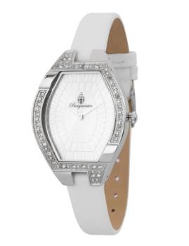 Relógio Burgmeister Senhora Esmirna Branco e Prateado