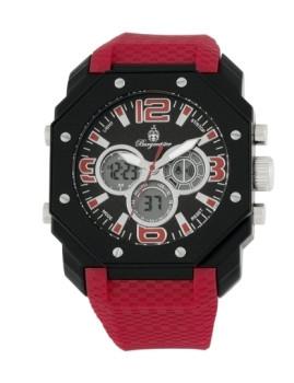 Relógio Burgmeister Homem Tokio Vermelho e Preto